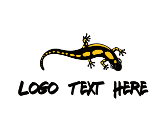 Iguana - Black Lizard logo design