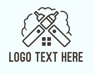 Tobacco - Vape House logo design