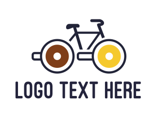 Sweets - Lollipop Bicycle logo design