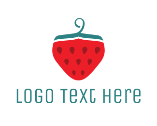 Dry Cleaner - Strawberry logo design