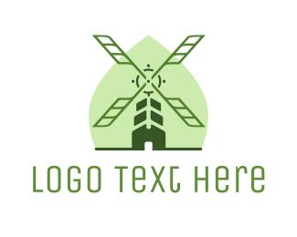 Danish - Organic Windmill logo design