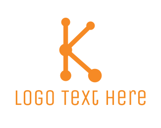 Hosting - Connect Letter K logo design
