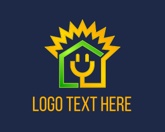 Solar Panel - Electricity House logo design