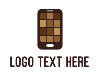 Brownie - Chocolate Phone logo design