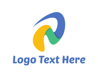 Colorful - Wavy Letter  logo design