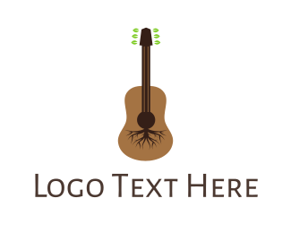 Guitarist - Root Guitar logo design