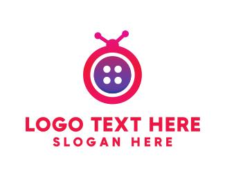 Seamstress - Fashion Bug Button logo design