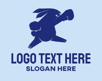 Boxer - Rabbit Punch logo design