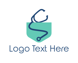 Stethoscope - Medical Pocket logo design