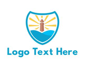 Lighthouse - Lighthouse Shield logo design