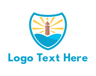 Lighthouse - Lighthouse Shield logo design