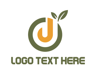 Letter J - J Fruit logo design
