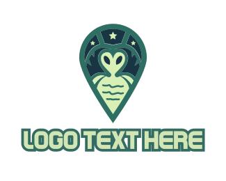Stylized - Green Alien logo design