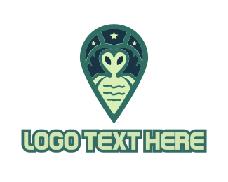 Gps - Green Alien logo design