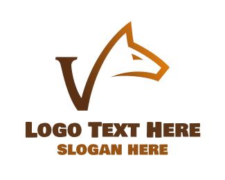 Grooming - Gradient Hound V logo design