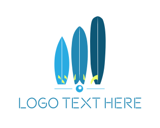Surfboard - Blue Surfboards logo design