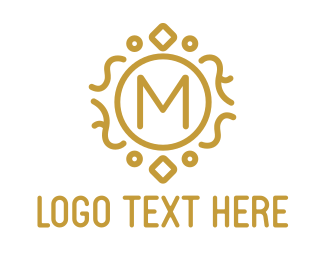 Jewellery - Gold Luxury M logo design