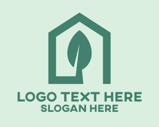 Orchid - Green House Leaf logo design