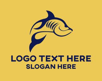 """Blue Fish"" by LogoBrainstorm"