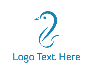 Swan - Blue Duck logo design