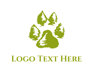 Outdoor - Paw Print logo design