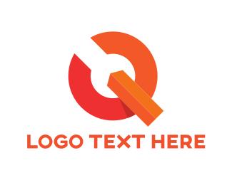 Letter Q - Orange Q logo design