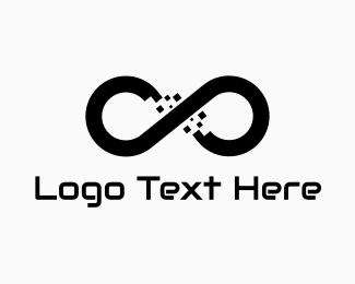 Dna - Pixel Mobius logo design