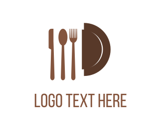 Lunch - Restaurant Cutlery logo design