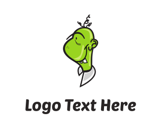 Zombie - Green Monster Cartoon logo design