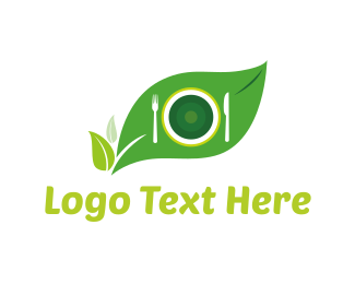 Plate - Eco Food logo design