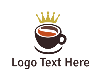 Mug - Royal Coffee Cup logo design