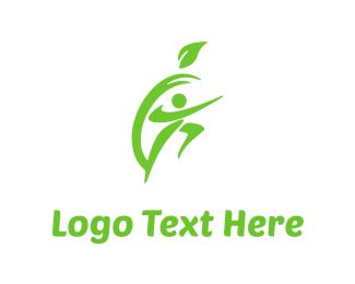 Vegetarian - Apple & Fitness logo design
