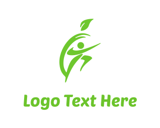 Organic - Apple & Fitness logo design