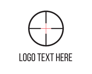 Paintball - Shooting Target logo design