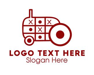 Truck - Tractor Toy logo design