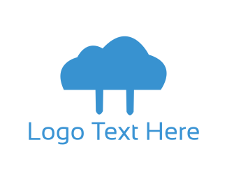 Plug - Cloud Plug logo design
