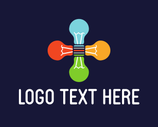 Meetup - Light Bulbs Group logo design