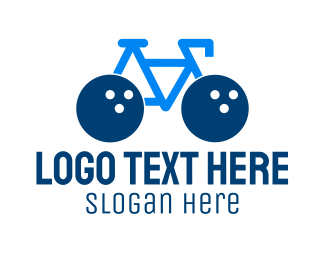 Recreation - Bowling Bike logo design