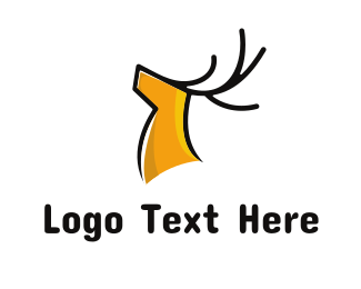 Deer - Gentle Yellow Deer logo design