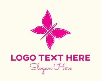 Butterfly - Needle Butterfly logo design