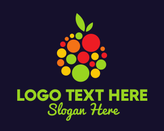 Healthy - Dot Fruit logo design