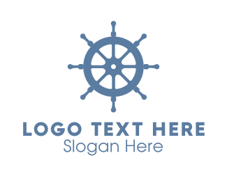 Sailing - Ship Wheel logo design