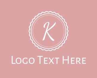 Confectionery - Pink K Stamp logo design