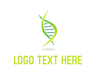 Genetics - Green DNA logo design