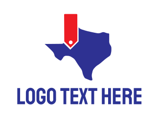 Dallas - Texas Map logo design