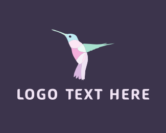 Fly - Pink Hummingbird logo design