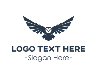 Animal - Wild Owl Flying logo design