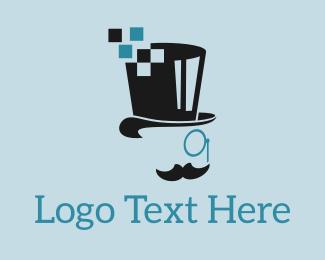 Monocle - Pixel Mister logo design
