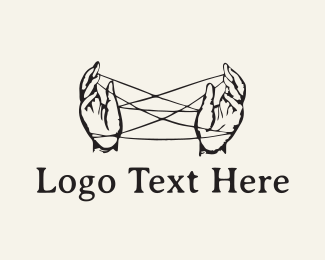 Hipster - Hand Strings logo design