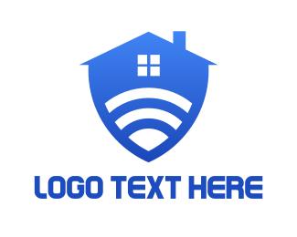 Wireless - Safe Home logo design